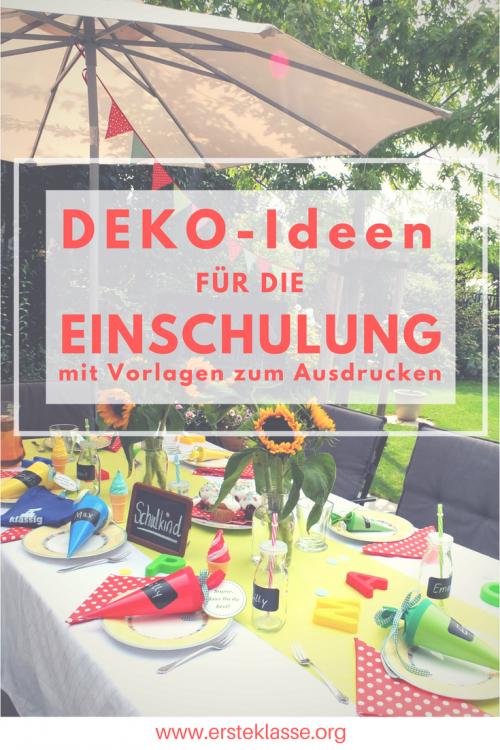 Deko-Ideen Einschulung