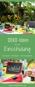 Deko Ideen Einschulung