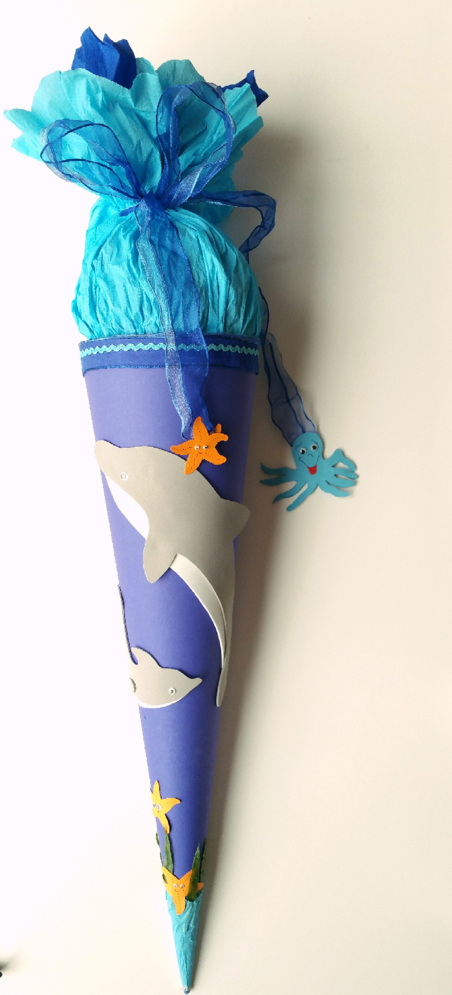 Schultüte Delfin zum Selberbasteln