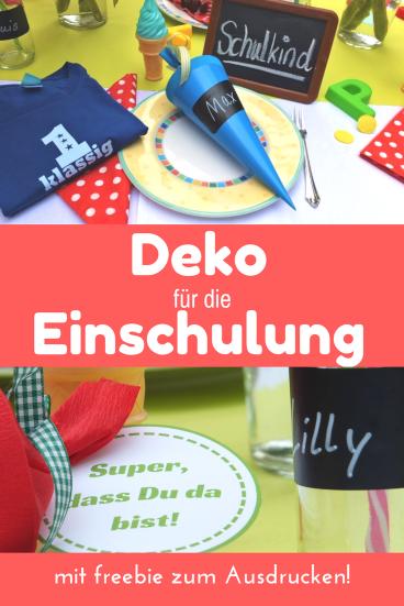 Deko Fur Die Einschulungsfeier