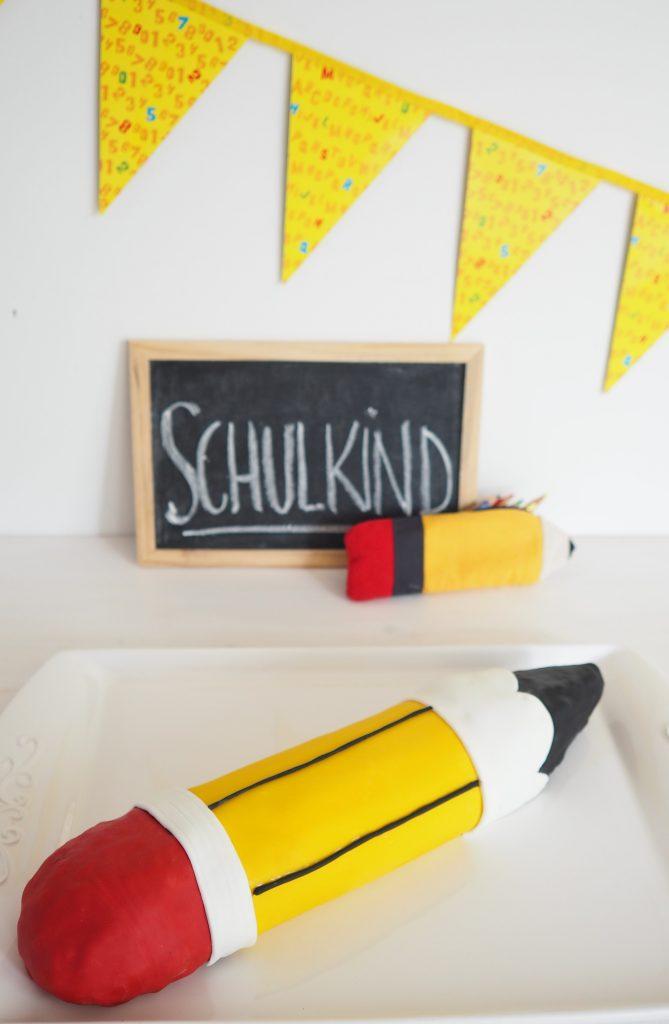 Motivtorte Schulanfang Stift mit Anleitung und Rezept