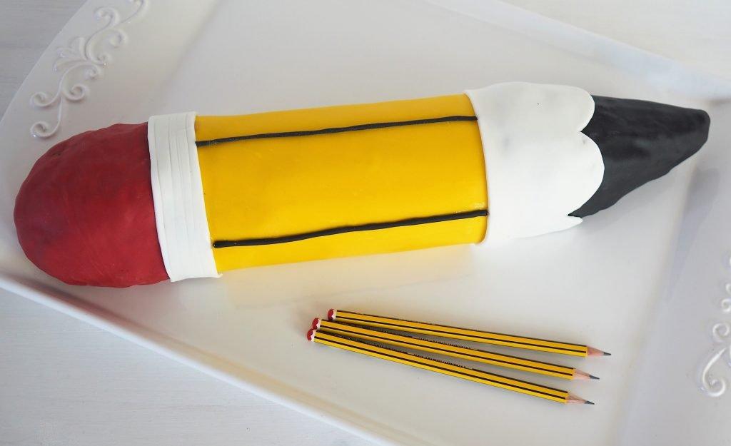 Bleistift Kuchen zur Einschulung Eine Motivtorte ohne Backen