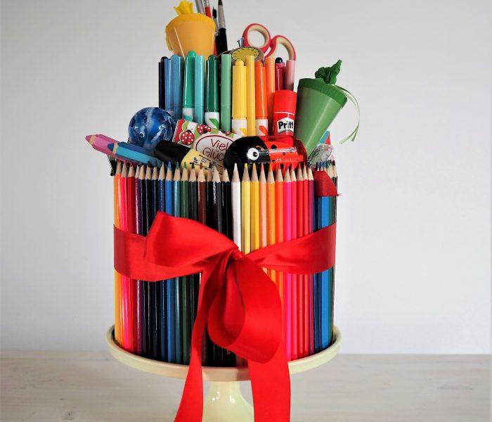 Stifte-Torte – eine Geschenkidee zum Schulanfang!