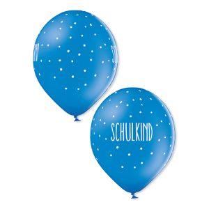 Ballons Schulkind grün gelb blau