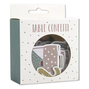 Tisch Konfett Einschulung pastell
