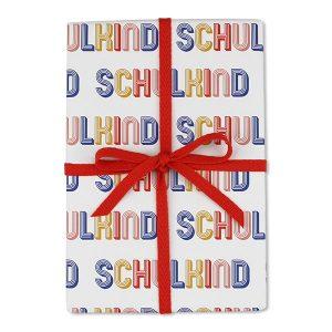 Geschenkpapier Schulkind gestreift