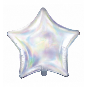 Folienballon Stern irisierend