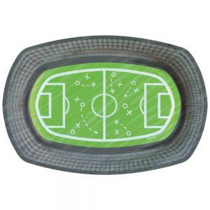 Fußball Stadion Pappteller