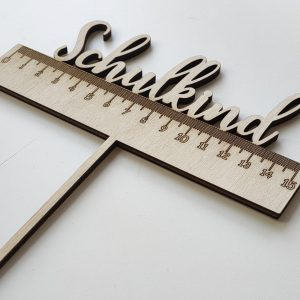 Cake Topper Schulkind Lineal