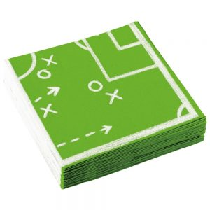 Fußball Serviette Spielfeld
